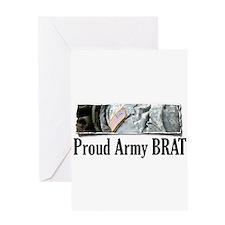 Cute Army brat Greeting Card