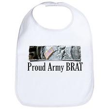 Cute Proud army brat Bib