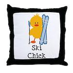 Ski Chick Throw Pillow