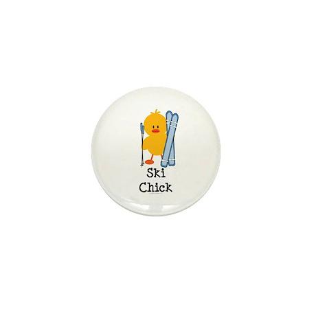 Ski Chick Mini Button (100 pack)