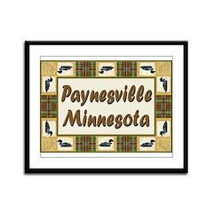 Paynesville Loon Framed Panel Print