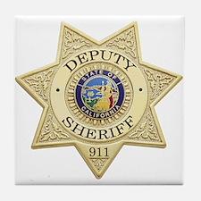 California Deputy Sheriff Tile Coaster