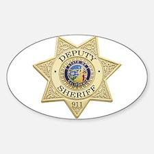 California Deputy Sheriff Oval Decal