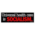 Universal health care is soci Sticker (Bumper 50 p