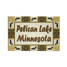 Pelican Lake Loon Rectangle Magnet (100 pack)