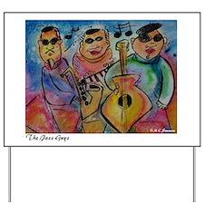 Jazz Band, Bright, colorful, Yard Sign