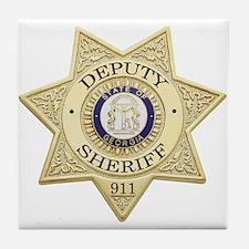 Georgia Deputy Sheriff Tile Coaster