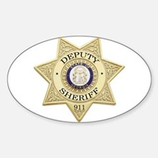 Georgia Deputy Sheriff Oval Decal