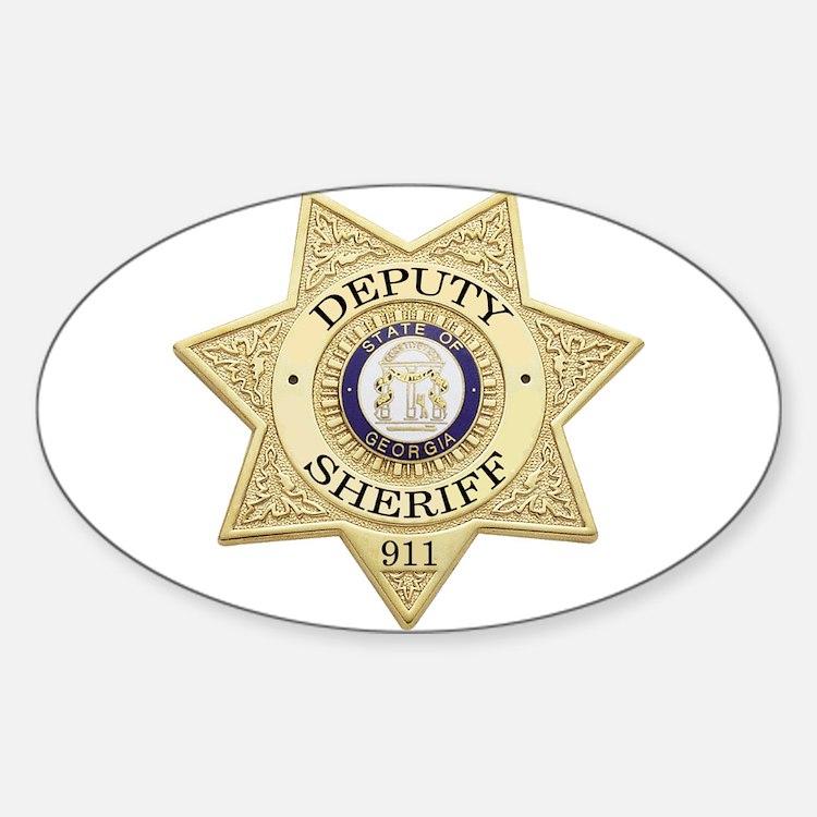 Georgia Deputy Sheriff Oval Decal