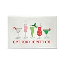 get your merry on. Rectangle Magnet