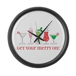 get your merry on. Large Wall Clock