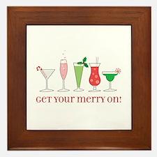 get your merry on. Framed Tile