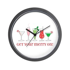 get your merry on. Wall Clock