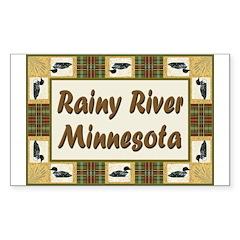 Rainy River Loon Rectangle Sticker 50 pk)