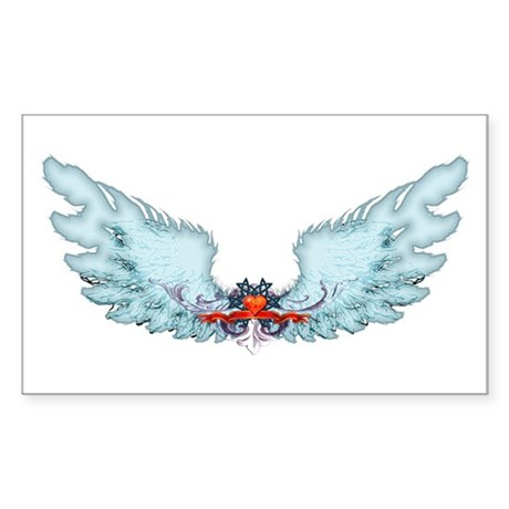 Your Very Own Angel Wings Rectangle Sticker