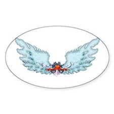 Your Very Own Angel Wings Oval Sticker (10 pk)