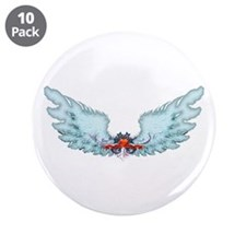"Your Very Own Angel Wings 3.5"" Button (10 pack)"
