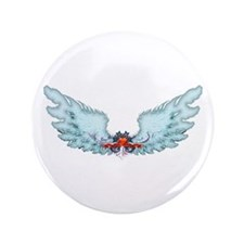 """Your Very Own Angel Wings 3.5"""" Button"""