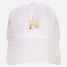 Gold Snowman and Christmas Tr Cap