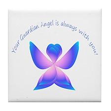 Your guardian Angel Tile Coaster