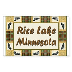 Rice Lake Loon Rectangle Decal