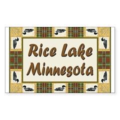 Rice Lake Loon Rectangle Decal