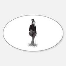 Innsmouth gentleman Lovecraft Oval Decal