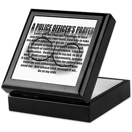 A POLICE OFFICER'S PRAYER Keepsake Box
