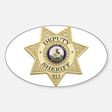 Illinois Deputy Sheriff Oval Decal