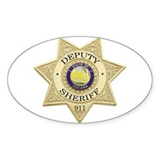 Indiana Deputy Sheriff Oval Decal