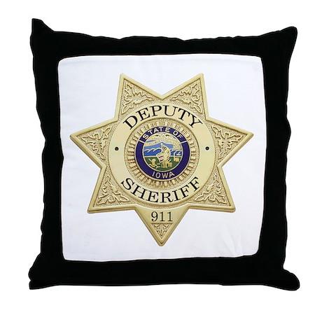 Iowa Deputy Sheriff Throw Pillow
