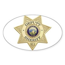 Iowa Deputy Sheriff Oval Stickers