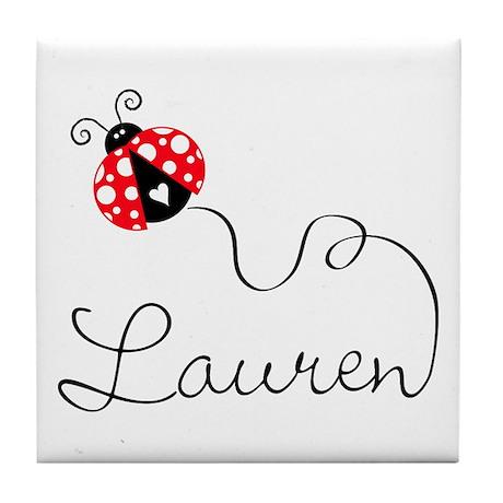 Ladybug Lauren Tile Coaster