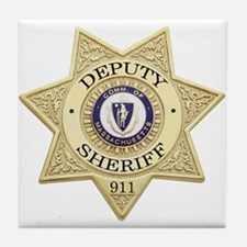 Massachusetts Deputy Sheriff Tile Coaster