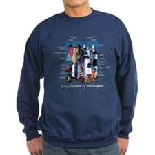 Lighthouses of Michigan Sweatshirt