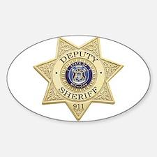 Michigan Deputy Sheriff Oval Decal