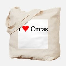 I Love Orcas Tote Bag