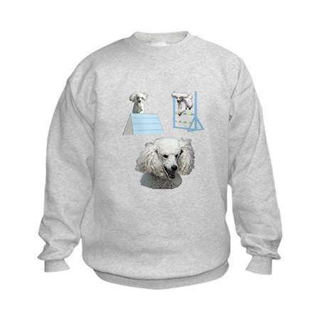 Run Poodle Run Kids Sweatshirt