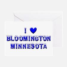 I Love Bloomington Winter Greeting Card