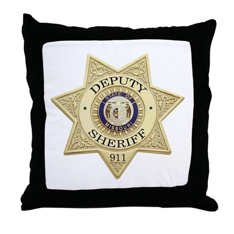 Missouri Deputy Sheriff Throw Pillow