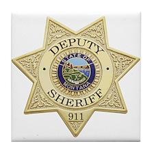 Montana Deputy Sheriff Tile Coaster