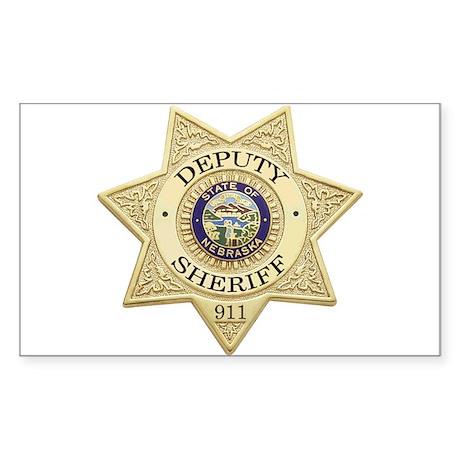 Nebraska Deputy Sheriff Rectangle Sticker