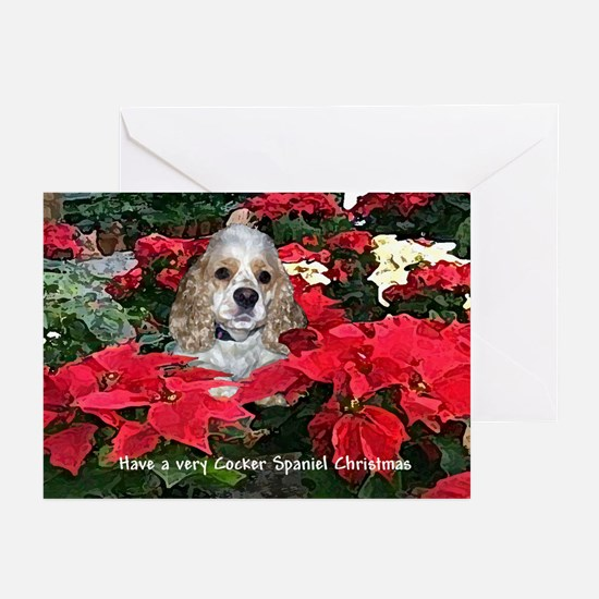 Cocker Spaniel Christmas Greeting Cards (Package o