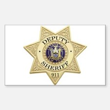 New York Deputy Sheriff Rectangle Stickers