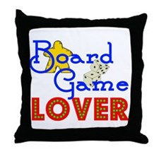 Board Game Lover Throw Pillow