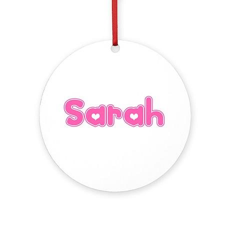 """Sarah"" Ornament (Round)"