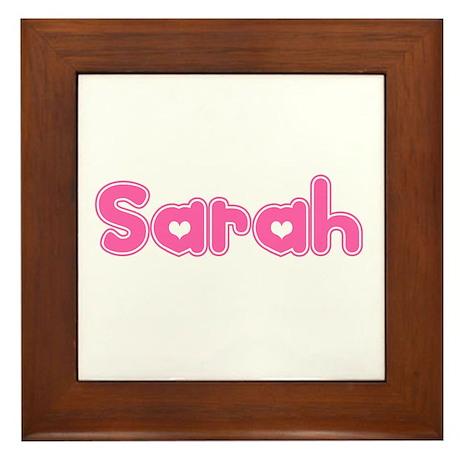 """Sarah"" Framed Tile"
