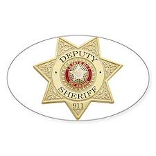 Oklahoma Deputy Sheriff Oval Decal