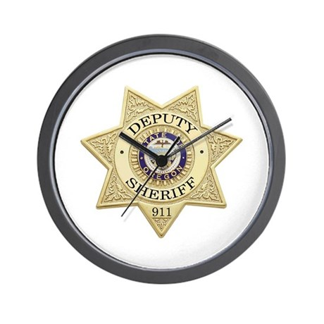Oregon Deputy Sheriff Wall Clock