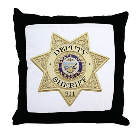 Oregon Deputy Sheriff Throw Pillow
